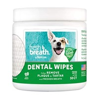 TROPICLEAN DENTAL WIPES 50TM
