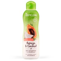TROPICLEAN PAPAYA-COCONUT SHAMPOO & CONDITIONER 592ML