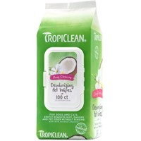 TROPICLEAN DEEP CLEANING WIPES 100 ΜΑΝΤΙΛΑΚΙΑ