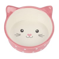 HAPPY PET ΚΕΡΑΜΙΚΟ ΜΠΩΛ POLKA CAT PINK SM 15CM/300ML 13177